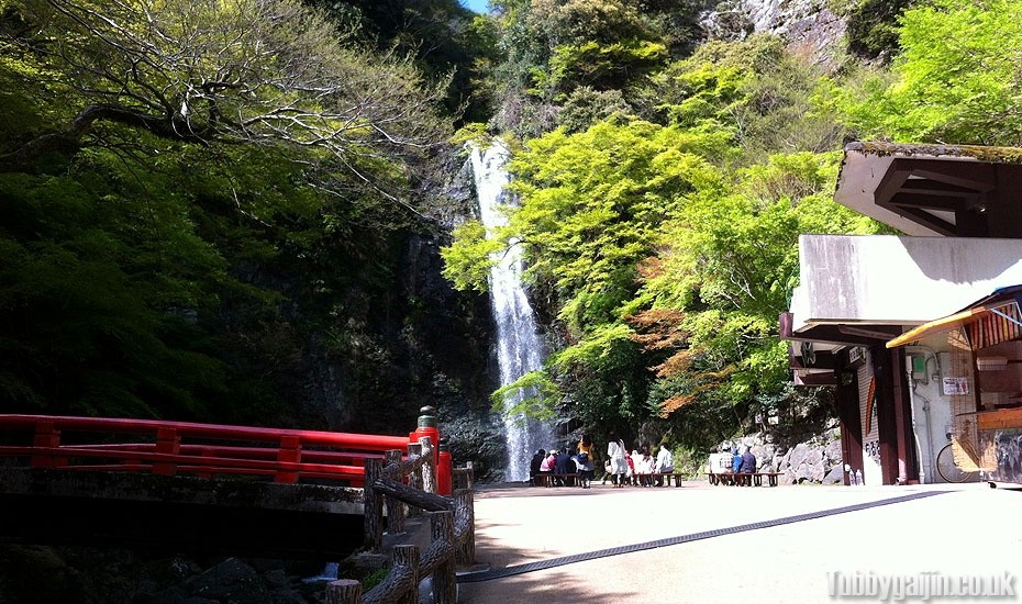Hiking to Minoh waterfall