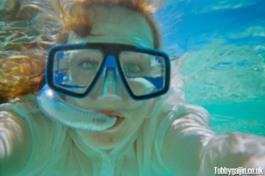 Underwater camera fun on Aka Island!