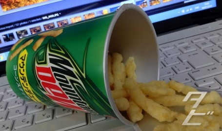 Mountain Dew flavour corn snack