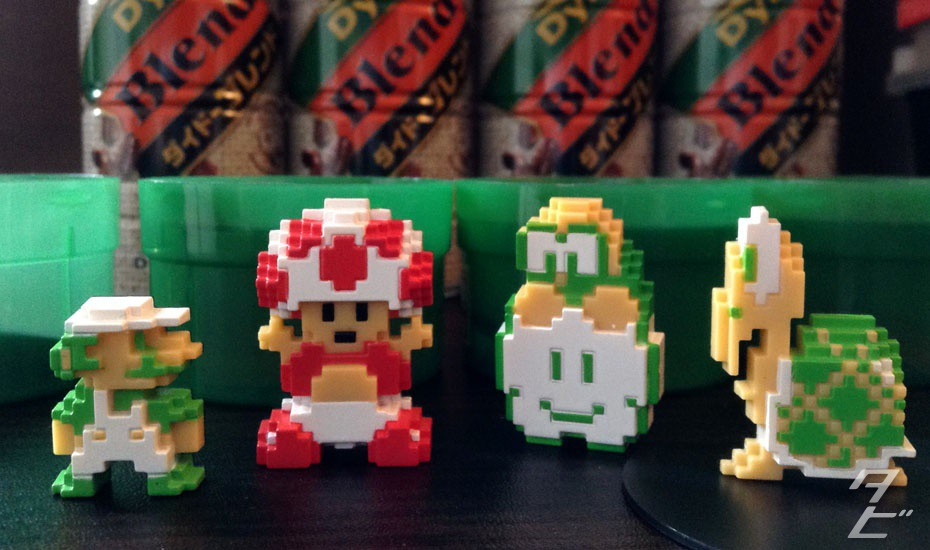 DyDo Coffee x Nintendo - Limited edition 8-bit figures!
